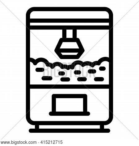 Popcorn Making Machine Icon. Outline Popcorn Making Machine Vector Icon For Web Design Isolated On W