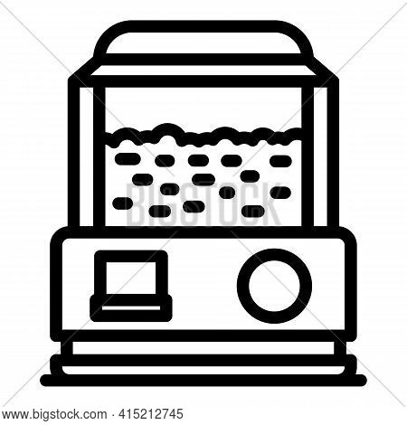 Popcorn Maker Icon. Outline Popcorn Maker Vector Icon For Web Design Isolated On White Background