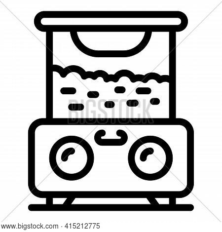 Automatic Popcorn Machine Icon. Outline Automatic Popcorn Machine Vector Icon For Web Design Isolate