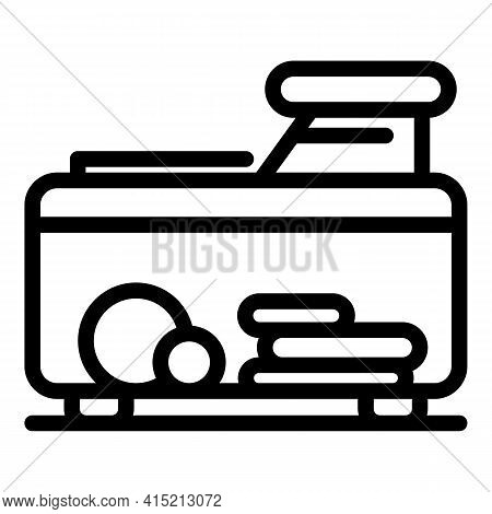 Vegetable Cutter Tool Icon. Outline Vegetable Cutter Tool Vector Icon For Web Design Isolated On Whi
