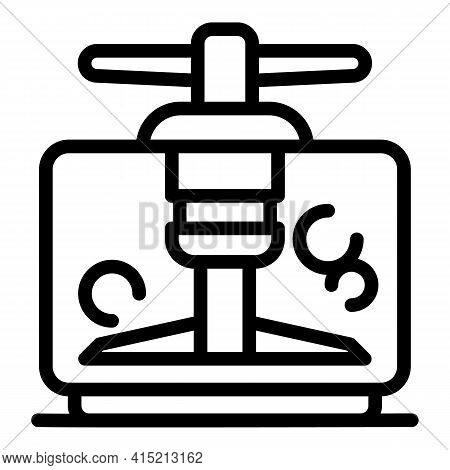 Electric Food Cutter Icon. Outline Electric Food Cutter Vector Icon For Web Design Isolated On White