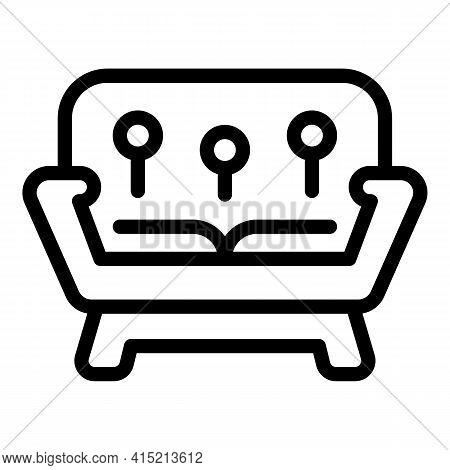 Lounge Sofa Icon. Outline Lounge Sofa Vector Icon For Web Design Isolated On White Background
