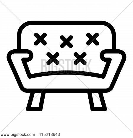 Lounge Area Icon. Outline Lounge Area Vector Icon For Web Design Isolated On White Background