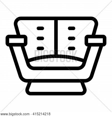 Armchair Room Icon. Outline Armchair Room Vector Icon For Web Design Isolated On White Background