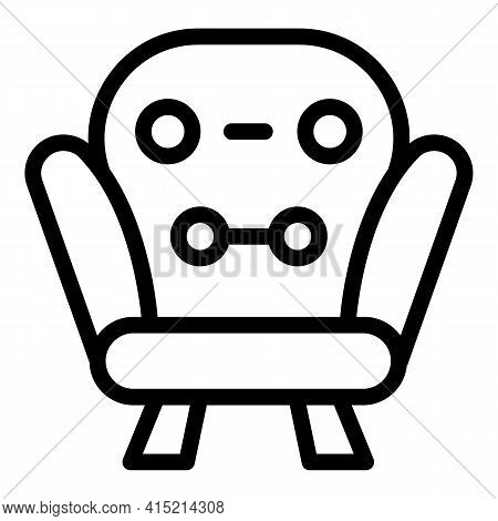 Lounge Rest Icon. Outline Lounge Rest Vector Icon For Web Design Isolated On White Background