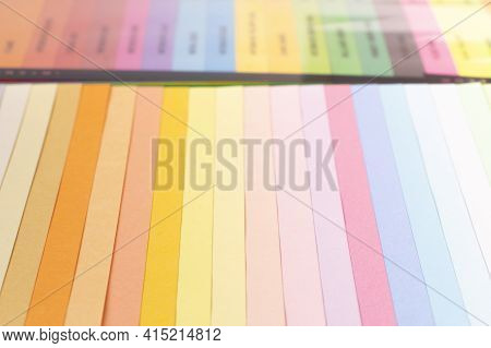 Color Card Palette, Samples For Colour Definition. Guide Of Paint Samples In The Colored Catalog