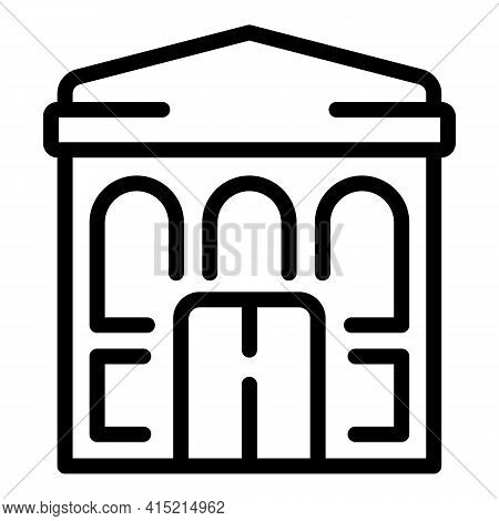 Ballet Building Icon. Outline Ballet Building Vector Icon For Web Design Isolated On White Backgroun