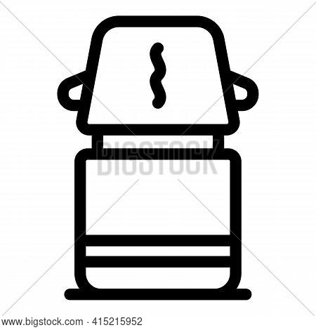 Thermos Container Icon. Outline Thermos Container Vector Icon For Web Design Isolated On White Backg