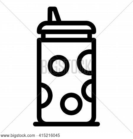 Heat Thermo Mug Icon. Outline Heat Thermo Mug Vector Icon For Web Design Isolated On White Backgroun