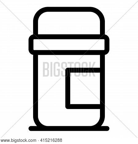 Hot Cup Thermos Icon. Outline Hot Cup Thermos Vector Icon For Web Design Isolated On White Backgroun