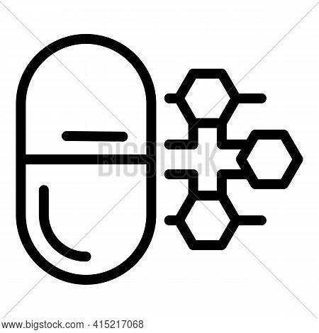 Vitamin Compound Icon. Outline Vitamin Compound Vector Icon For Web Design Isolated On White Backgro