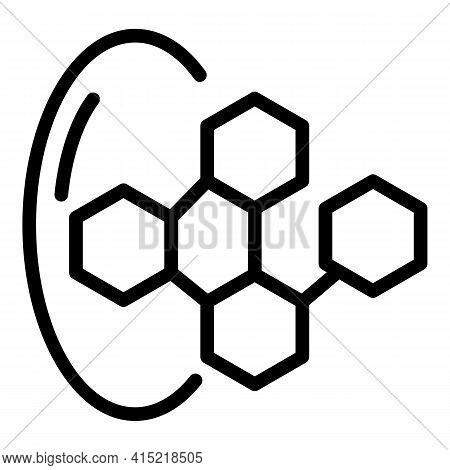 Mineral Compound Icon. Outline Mineral Compound Vector Icon For Web Design Isolated On White Backgro