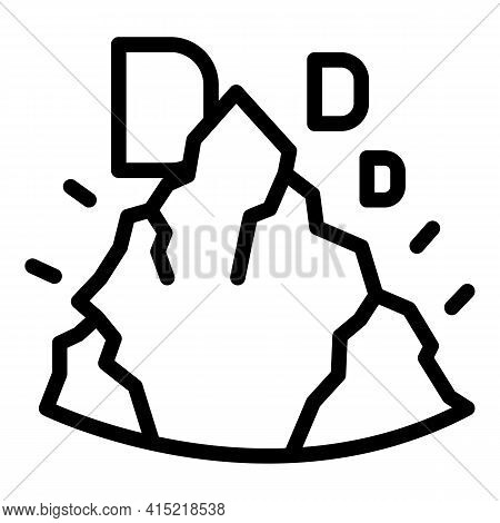 Vitamin Minerals Icon. Outline Vitamin Minerals Vector Icon For Web Design Isolated On White Backgro