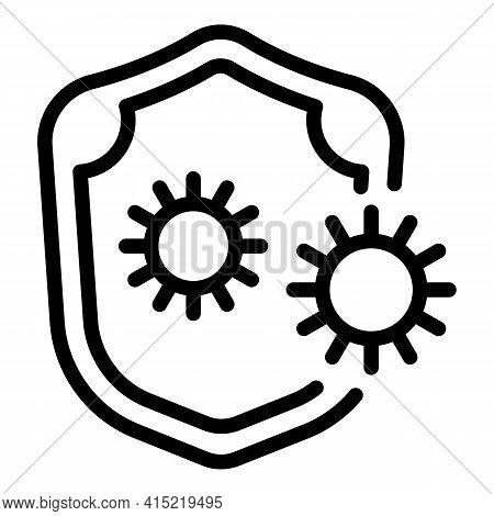 Virus Immunity Icon. Outline Virus Immunity Vector Icon For Web Design Isolated On White Background