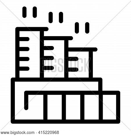 Manufacturing Chimney Icon. Outline Manufacturing Chimney Vector Icon For Web Design Isolated On Whi