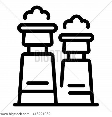 Smoke Chimney Icon. Outline Smoke Chimney Vector Icon For Web Design Isolated On White Background