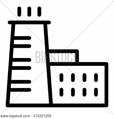 Gas Emission Chimney Icon. Outline Gas Emission Chimney Vector Icon For Web Design Isolated On White