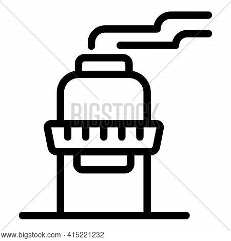 Fuel Chimney Icon. Outline Fuel Chimney Vector Icon For Web Design Isolated On White Background
