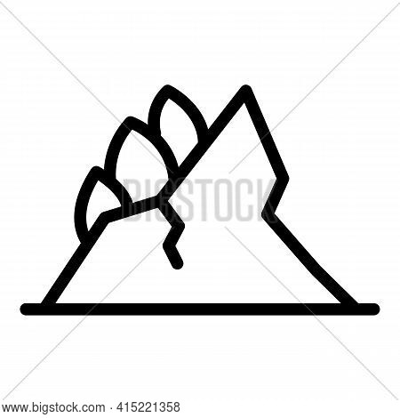 Forest Disaster Icon. Outline Forest Disaster Vector Icon For Web Design Isolated On White Backgroun