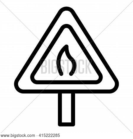 Ban Burning Icon. Outline Ban Burning Vector Icon For Web Design Isolated On White Background