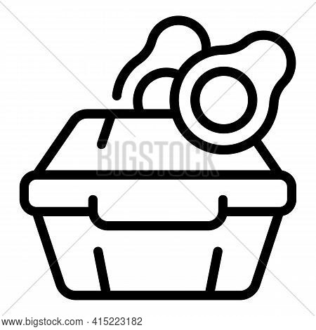 Avocado Lunch Box Icon. Outline Avocado Lunch Box Vector Icon For Web Design Isolated On White Backg
