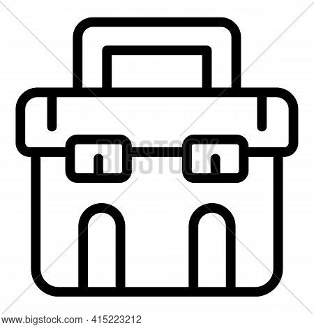 School Briefcase Icon. Outline School Briefcase Vector Icon For Web Design Isolated On White Backgro