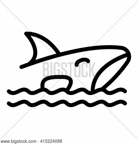 Orca Killer Icon. Outline Orca Killer Vector Icon For Web Design Isolated On White Background