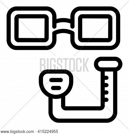 Dive Tools Icon. Outline Dive Tools Vector Icon For Web Design Isolated On White Background