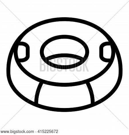 Water Ring Icon. Outline Water Ring Vector Icon For Web Design Isolated On White Background