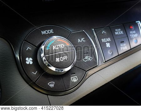 Car control dials for air conditioner and heat climate controls vehicle