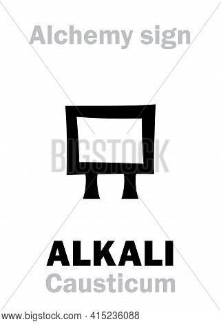 Alchemy Alphabet: Alkali (arab.: Al-qali