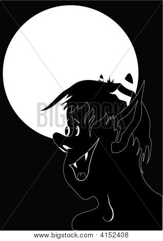 Devil Black White