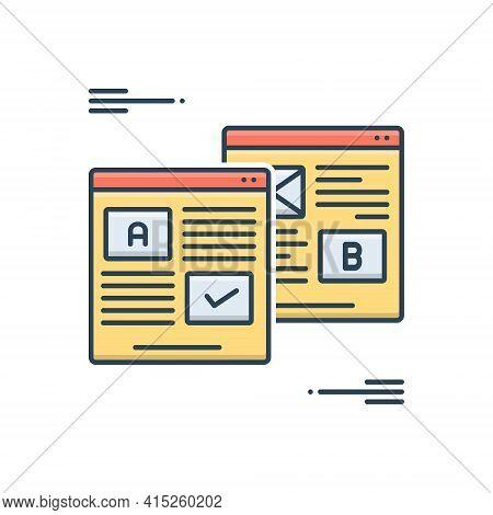 Color Illustration Icon For Ab-testing Ab Testing Presentation Study