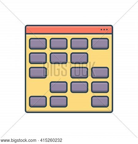 Color Illustration Icon For Card Sorting Card-sorting Gambling