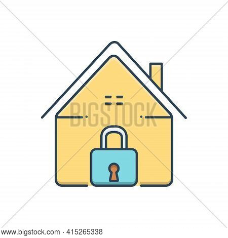 Color Illustration Icon For Home-security Home Security Safe-home  Secure