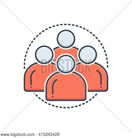 Color Illustration Icon For Personas Man People Team Group Customize Personality