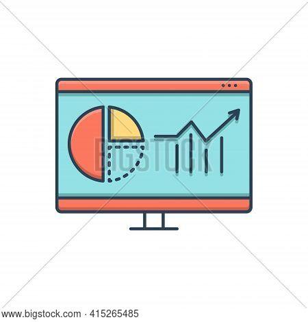 Color Illustration Icon For Web-analytics  Web Analytics  Usability Marketing Infographic