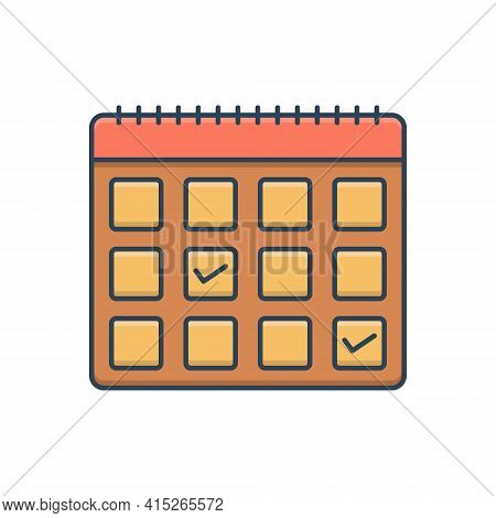 Color Illustration Icon For Appointment-request Appointment Request Calendar