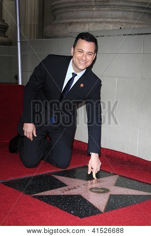 LOS ANGELES - JAN 25: Jimmy Kimmel at a ceremony where  Jimmy Kimmel is honored with a star on the Hollywood Walk of Fame on January 25, 2013 in Los Angeles, California