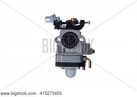 Carburetor Isolated On White Background,carburetor For Gasoline Trimmer On A White Background