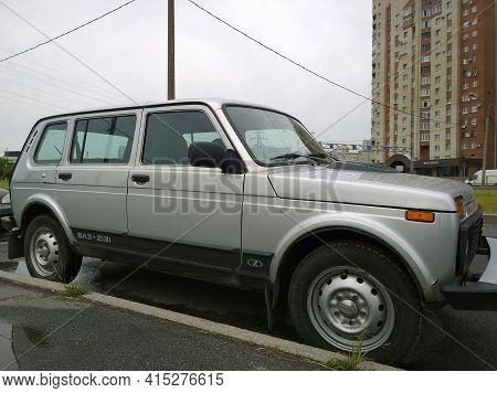St. Petersburg, Russia - June, 2020: Lada Niva Vaz-2131 - Popular Russian Car Manufacturer For The C