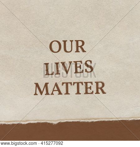 Our lives matter typography BLM movement