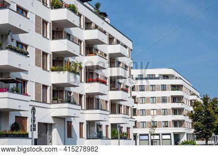 Modern Multi-family Apartment Buildings Seen In Berlin, Germany