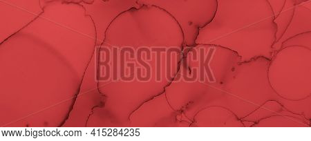 Abstract Blood Background. Rose Ink Wallpaper. Halloween Spatter Black. Watercolour Murder Design. B