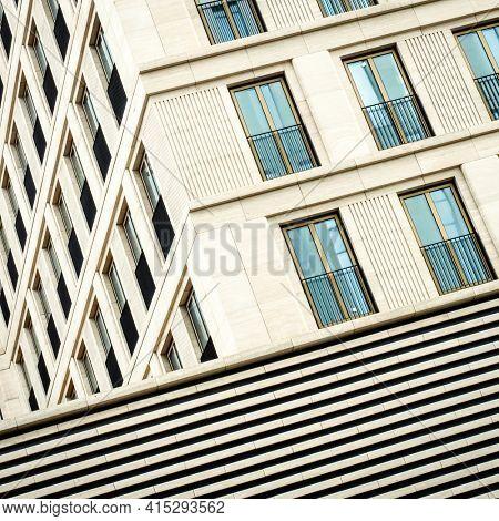 Modern office building facade detail