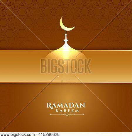 Elegant Ramadan Kareem Creative Background Vector Template Design