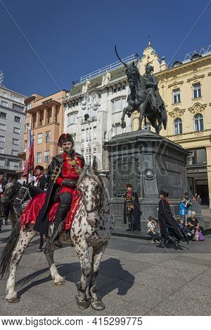 Zagreb, Croatia, September 2016 - Zagreb, Croatia, September 2016 - Horseback Commander Of The Royal