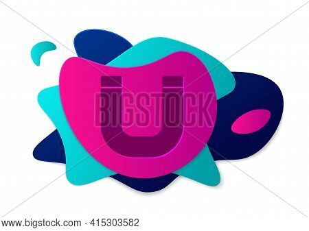 Color Magnet Icon Isolated On White Background. Horseshoe Magnet, Magnetism, Magnetize, Attraction.