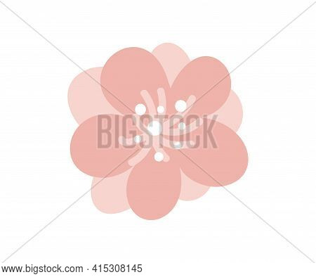 Summer Vector Wildflowers Illustration For Bouquet. Scandinavian Branch Of Bluebell Flower Spring Is