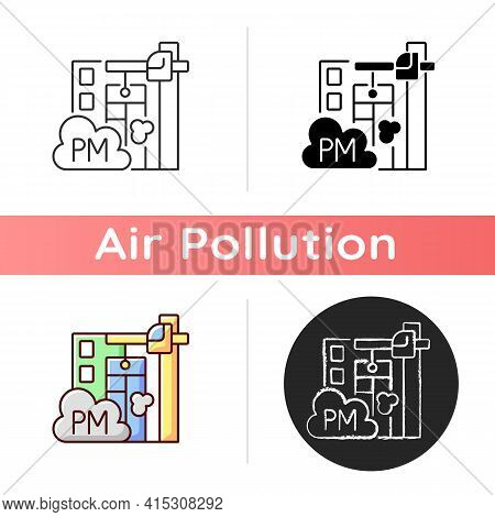 Demolition Sites Icon. Depending On How Building Is Being Demolished Can Create Environmental Issues